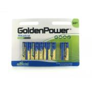 GOLDEN POWER 1.5V AAA ALKALINE (AAA) 8+2