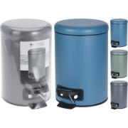 PEDAL BIN 3LT 3ASSORTED COLORS
