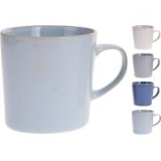 MUG 320CC STONEWARE 4 ASSORTED COLORS