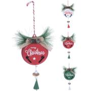 FAMILY TIME (THEMA) BELL HANGING DECO 22CM 3ASS CL