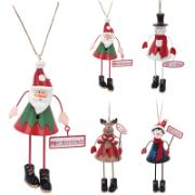 FAMILY TIME (THEMA) XMAS HANGING DECO 15CM 4ASS