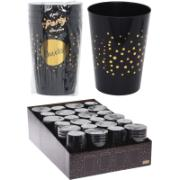 WATER GLASS SET OF 4PCS BLK