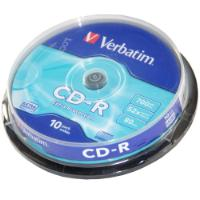 VERBATIM CD-R 700MB SPINDLE 10PCS