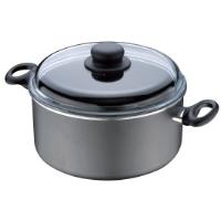 CASSEROLE 24CM, 5L, NON-STICK, WITH GLASS LID, MAGIC