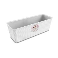 STEFANPLAST NATURAL FLOWER BOX 50CM WHITE