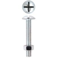 FRIULSIDER WIDE HEAD BOLT&NUT 4X40 15PCS