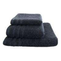 BATH TOWEL BLACK FLUFFY 85X150 5