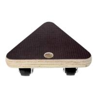 MOVE IT Small Triangle Wooden Dolly Mover  13.4 x 4.3 cm, Max Load 100kg, Black