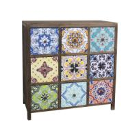 WOODEN CABINET 9 DRWERS 67X32X67CM