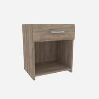 BED SIDE TABLE 47X45X34CM SMOKED