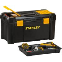 STANLEY 19 INCH LOCKABLE COMPARTMETS REMOVABLE TRAY STORAGE ORGANISER TOOL BOX