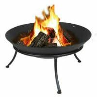 FIREBOWL ON STAND CAST IRON