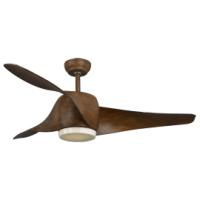 SUNLIGHT 'BREEZE' CEILING FAN DC MOTOR 3-ABS BLADES 52 BROWN WITH 15W LED LIGHT