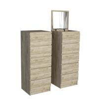 KITWOOD CHEST 5 DRAWERS WITH MIRROR 44.5X45X115.5CM GREY