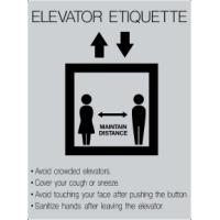 ELEVATOR RULES SIGN