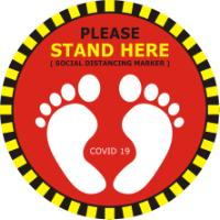 STAND HERE SIGN
