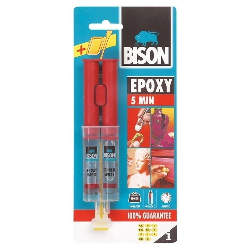 BISON EPOXY 5 MIN CARD 24ML
