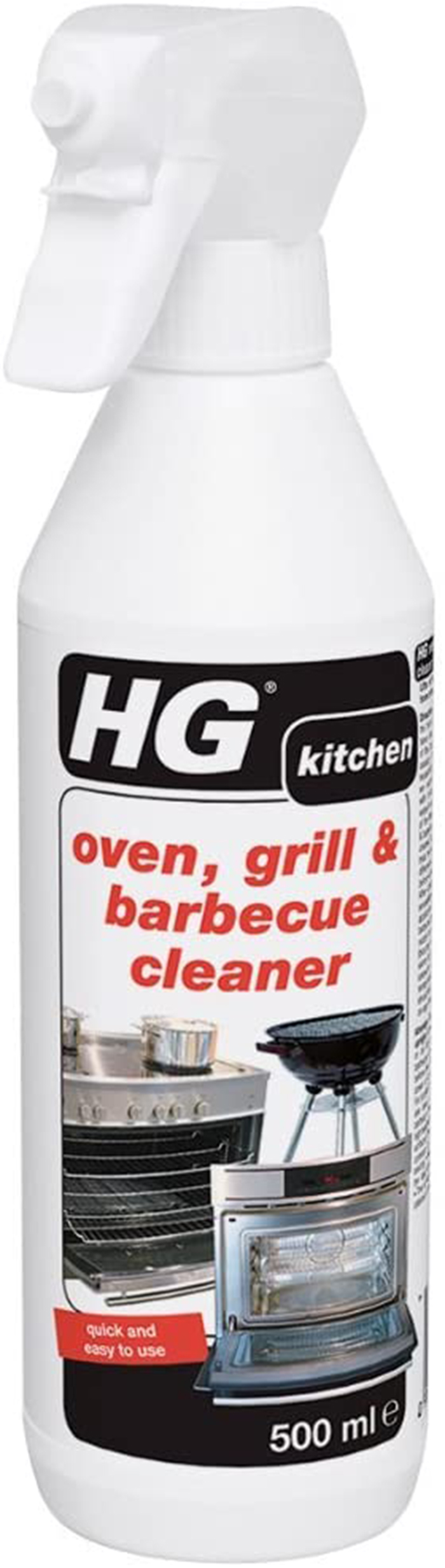 HG OVEN, GRILL & BARBEQUE CLEANER 500ML