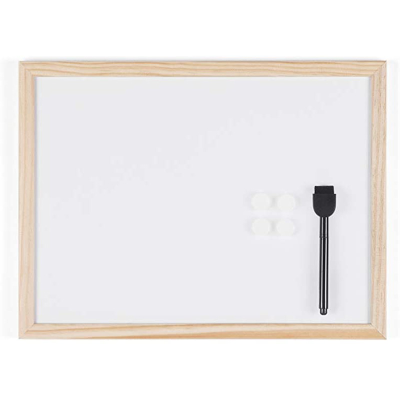 MAGNETIC WHITE BOARD WITH WOODEN FRAME 300X400MM