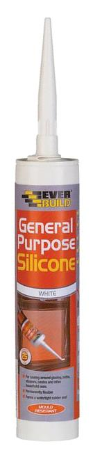 EVER BUILD SILICONE WHITE GENERAL PUR