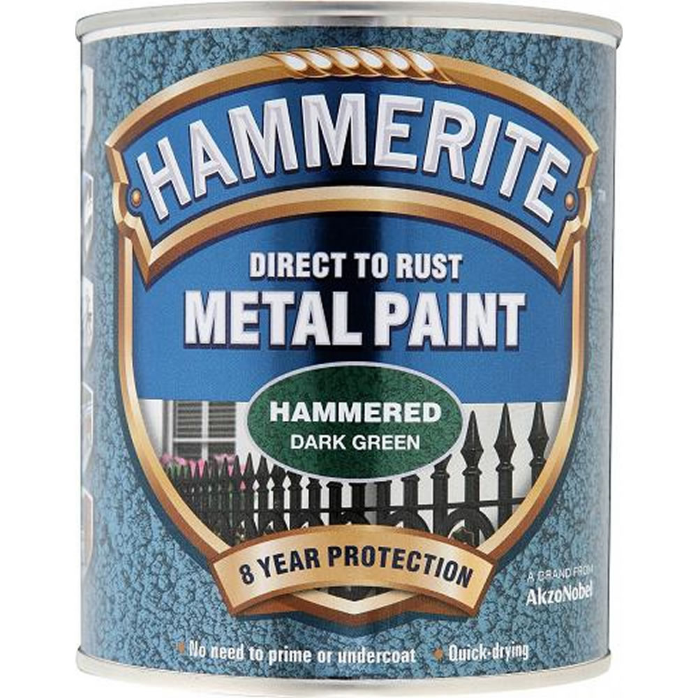 HAMMERITE HAMMERED DEEP GREEN 750ML