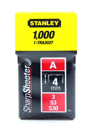 STANLEY STAPLES  4MM 1000PC