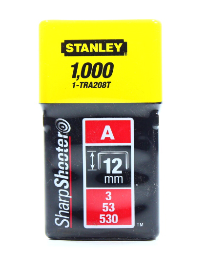 STANLEY STAPLES 12MM 1000P