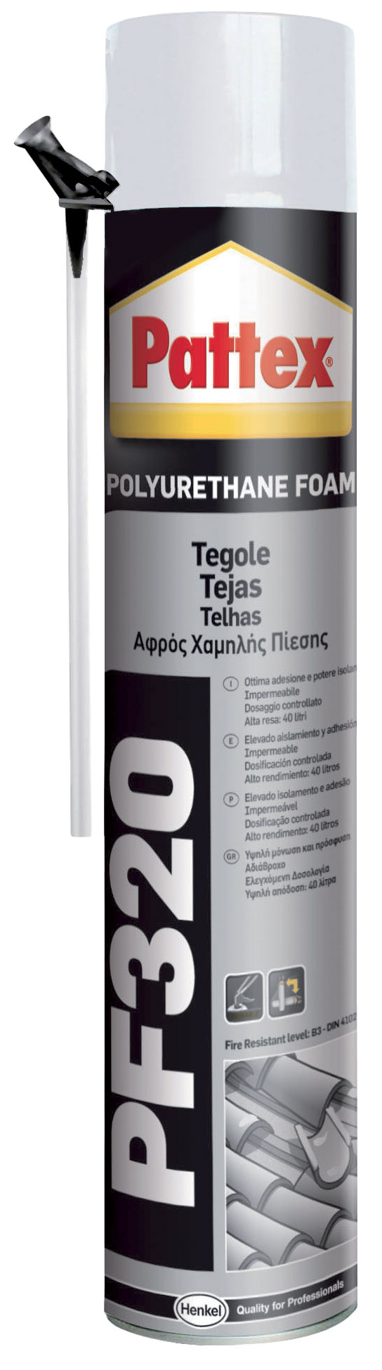 PATTEX PF320 LOW PRESSURE ROOF FOAM 750ML