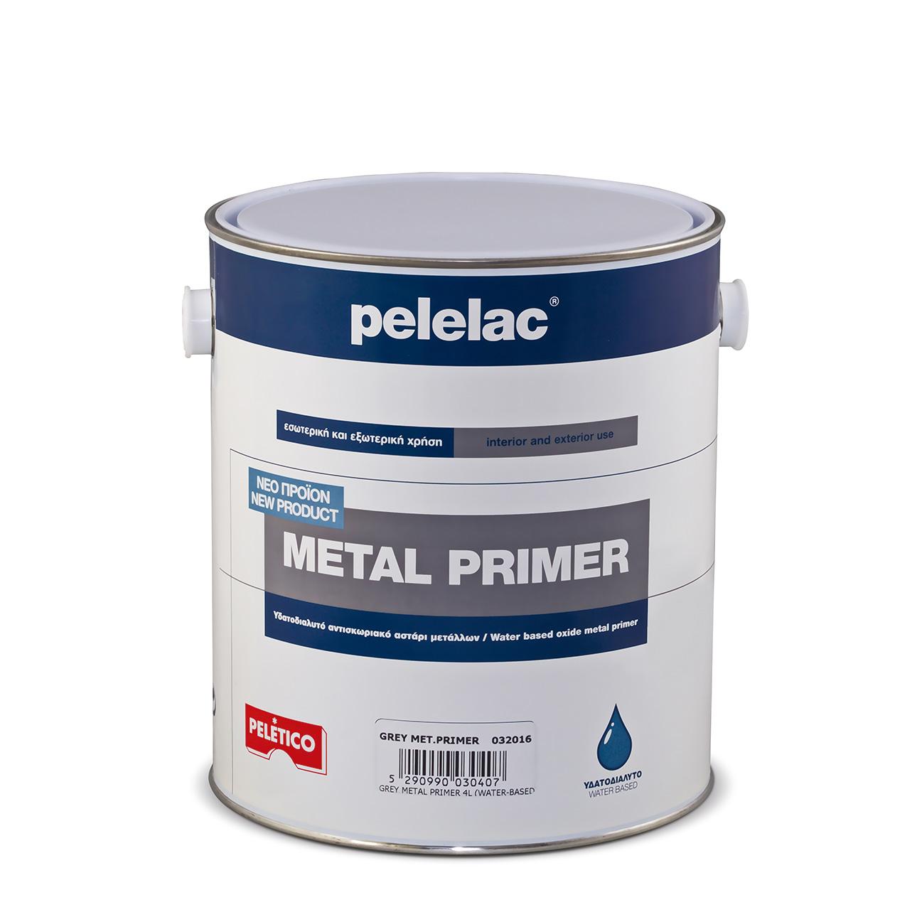 PELELAC® METAL PRIMER RED OXIDE 4L WATER BASED