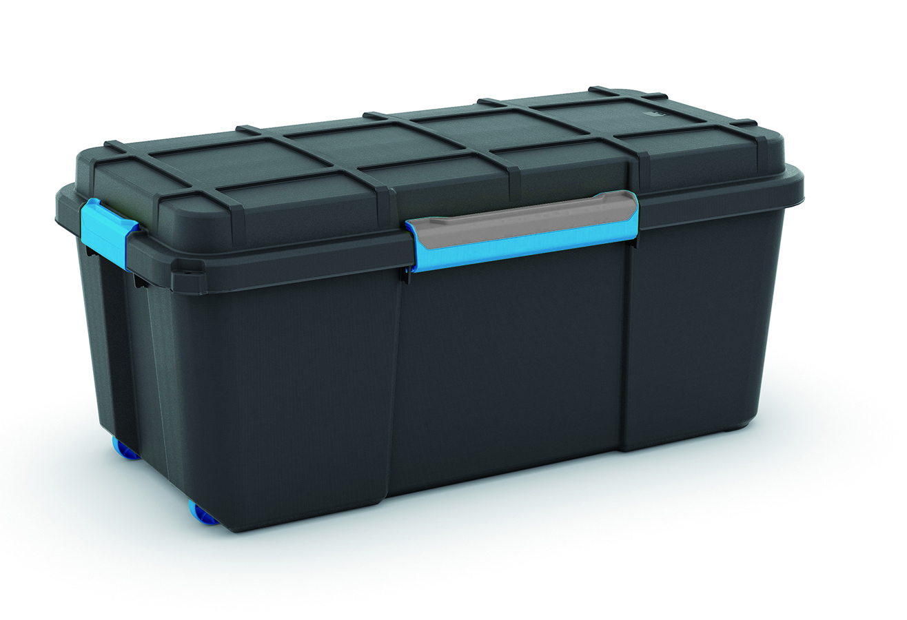 KIS SCUBA BOX L BLACK/BLUE CLIPS 74L
