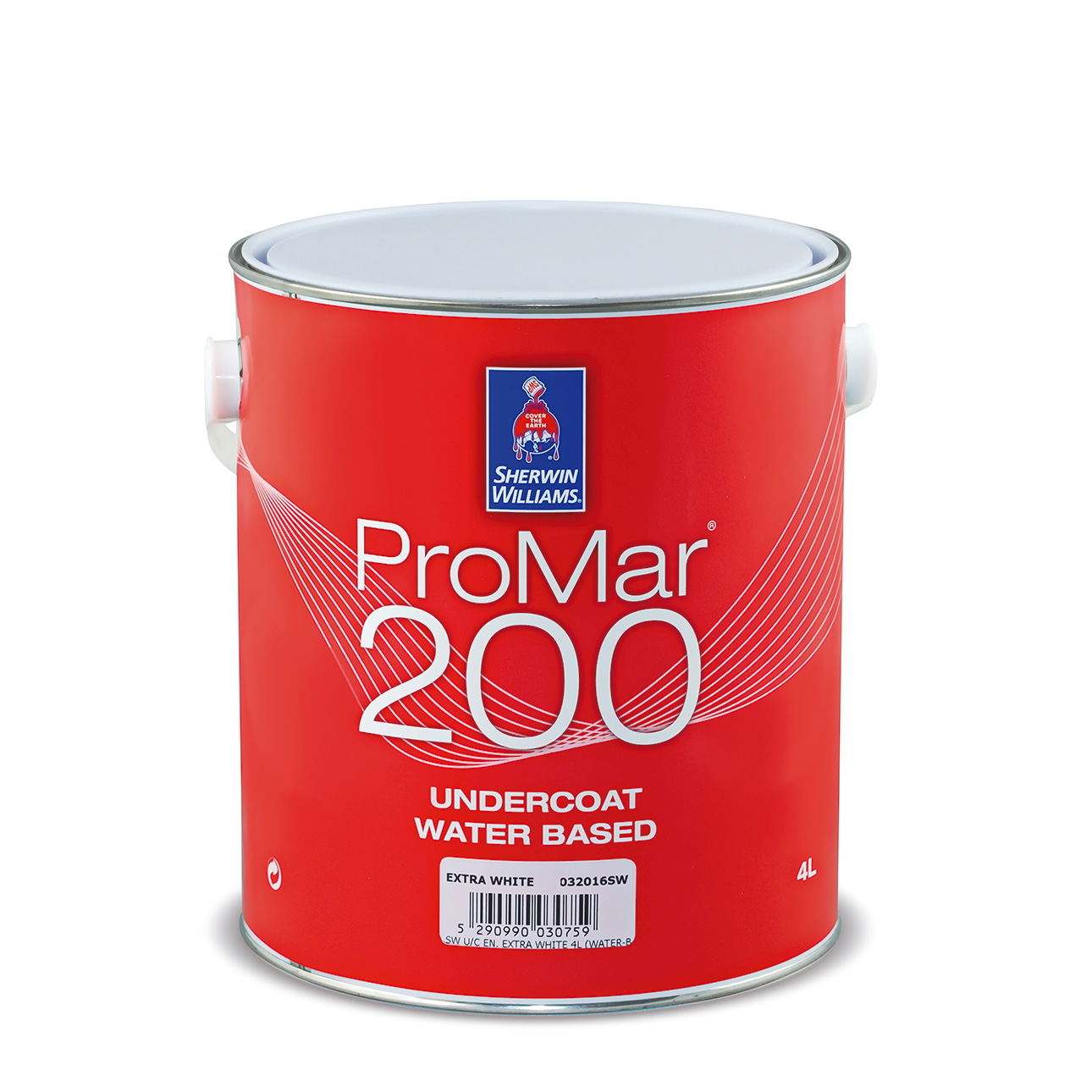 SHERWIN-WILLIAMS® PROMAR® 200 UNDERCOAT WATER BASED EXTRA WHITE 4L