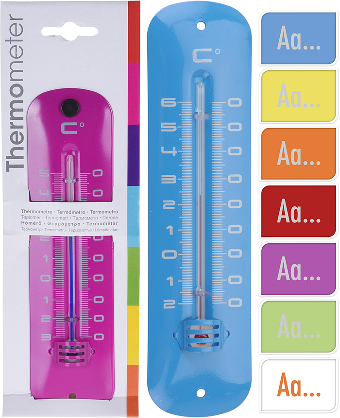 THERMOMETER METAL 19X4.8CM 59