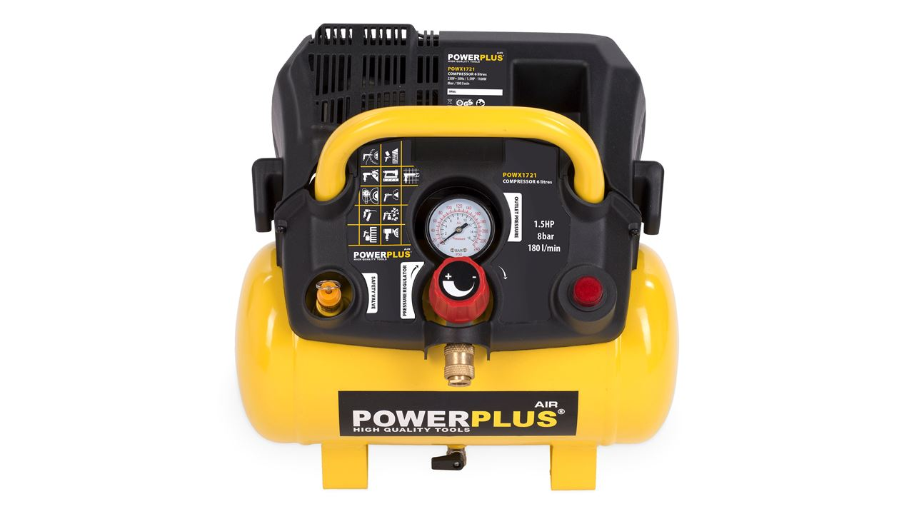 POWERPLUS COMPRESSOR 1100W 6L NO OIL 1.5HP