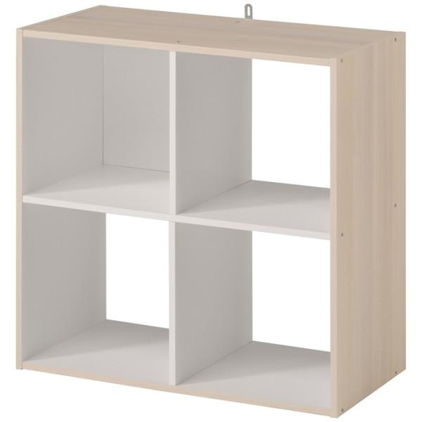 4 STORAGE SPACES 61X29X61CM BLONDE