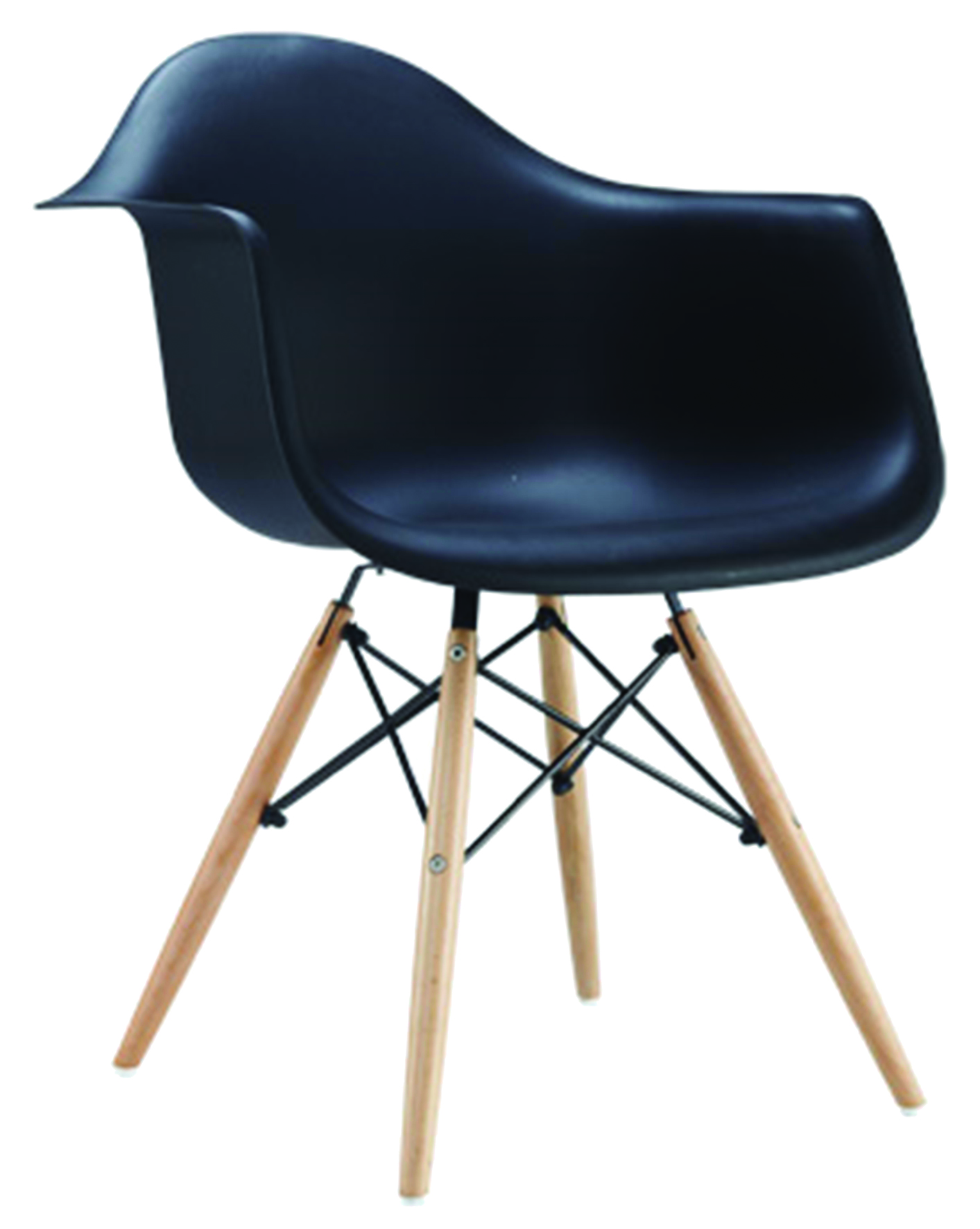 ZINA PLASTIC CHAIR BLACK