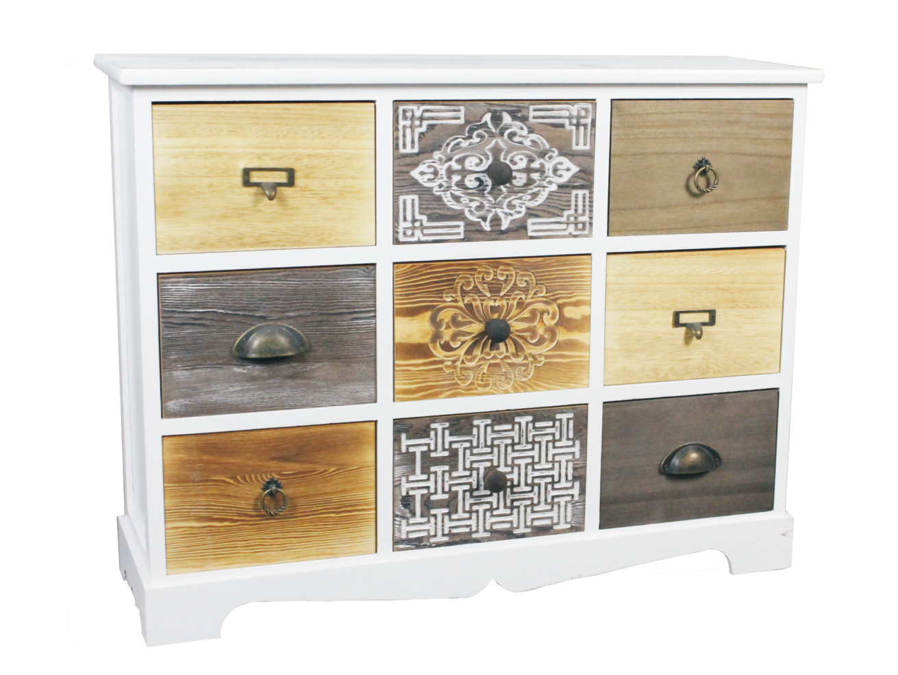WOODEN CABINET 9 DRAWERS 79X25X60CM