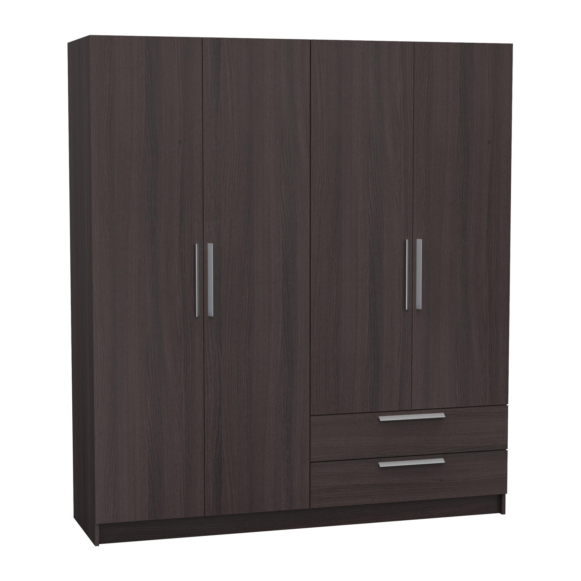 WARDROBE 4 DOORS +  2 DRAWERS OAK