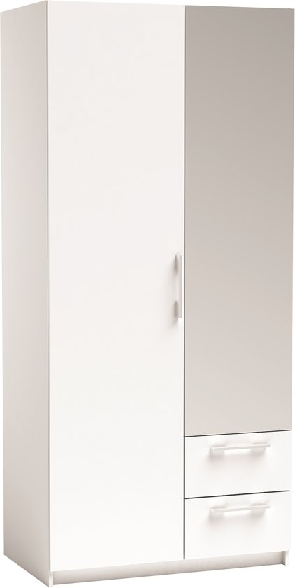 WARDROBE 2DOORS 2DRAWERS NEW YORK WHITE