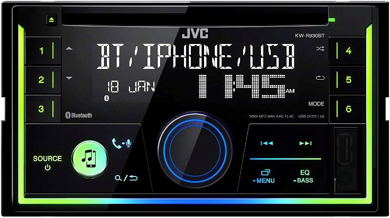 JVC CAR RADIO/2-DIN/CD/USB/BLU