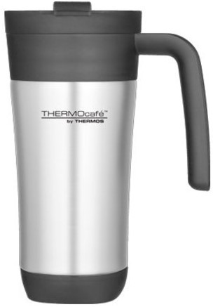 THERMOS TRAVEL MUG 450ML S/S WITH HANDLE