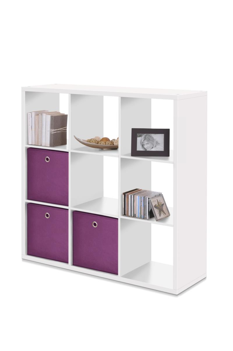 MAX9 SHELF UNIT WITH 9 CUBES WHITE