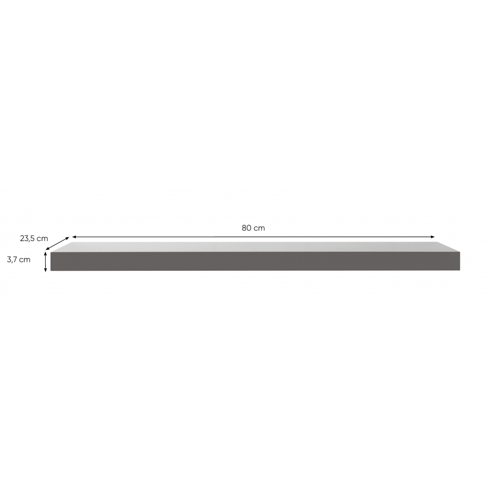 FINORI SHELVY GREY HIGHGLOSS 80X23.5X3.7CM