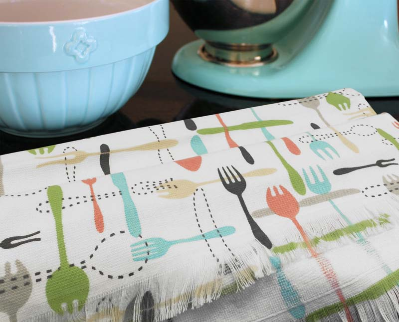 KITCHEN TOWELS COT DES 40X60 2PC 320