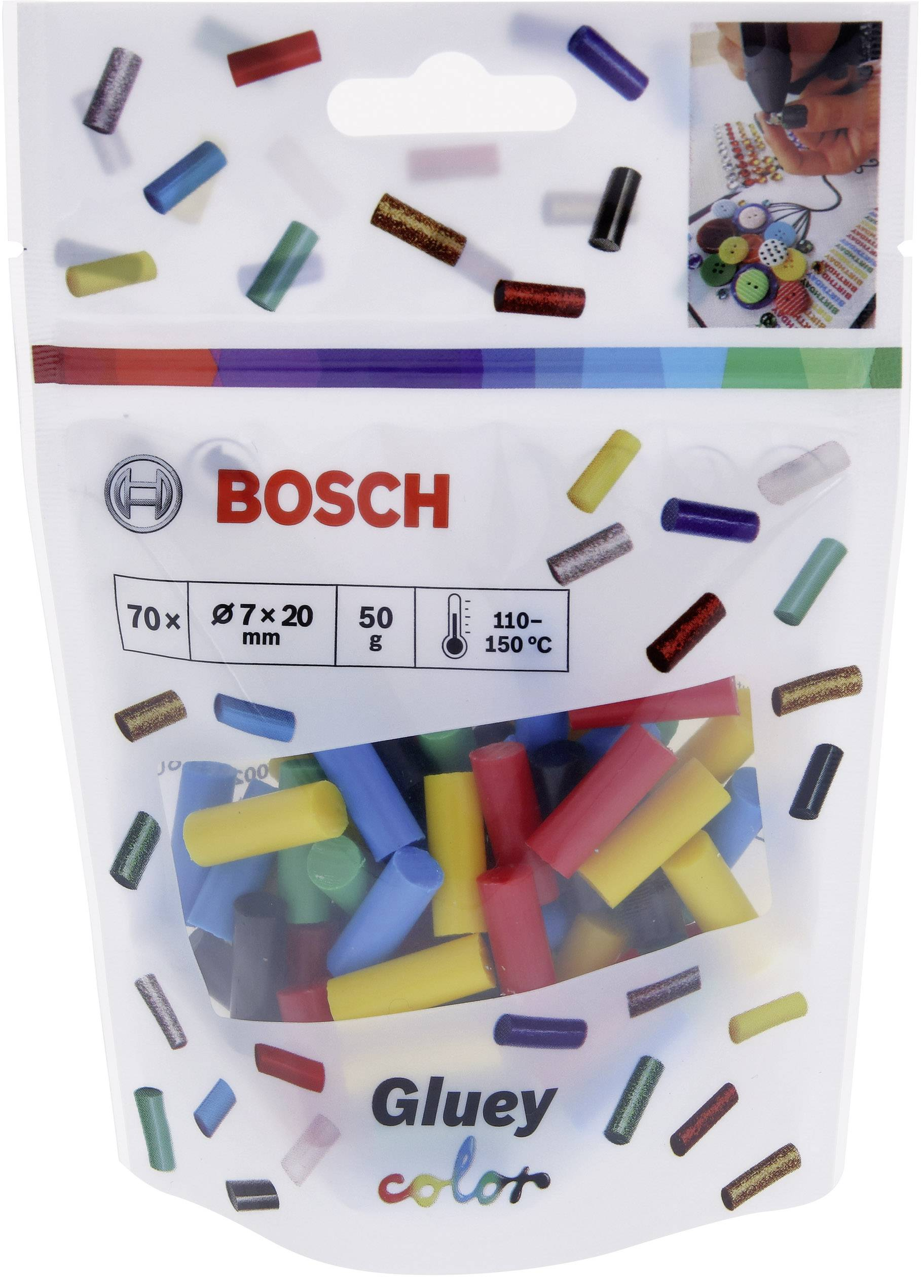 BOSCH COLOUR GLUE STICKS 70PCS