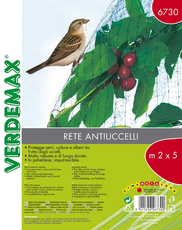 VERDEMAX BIRD PROTECTION NET 2X5