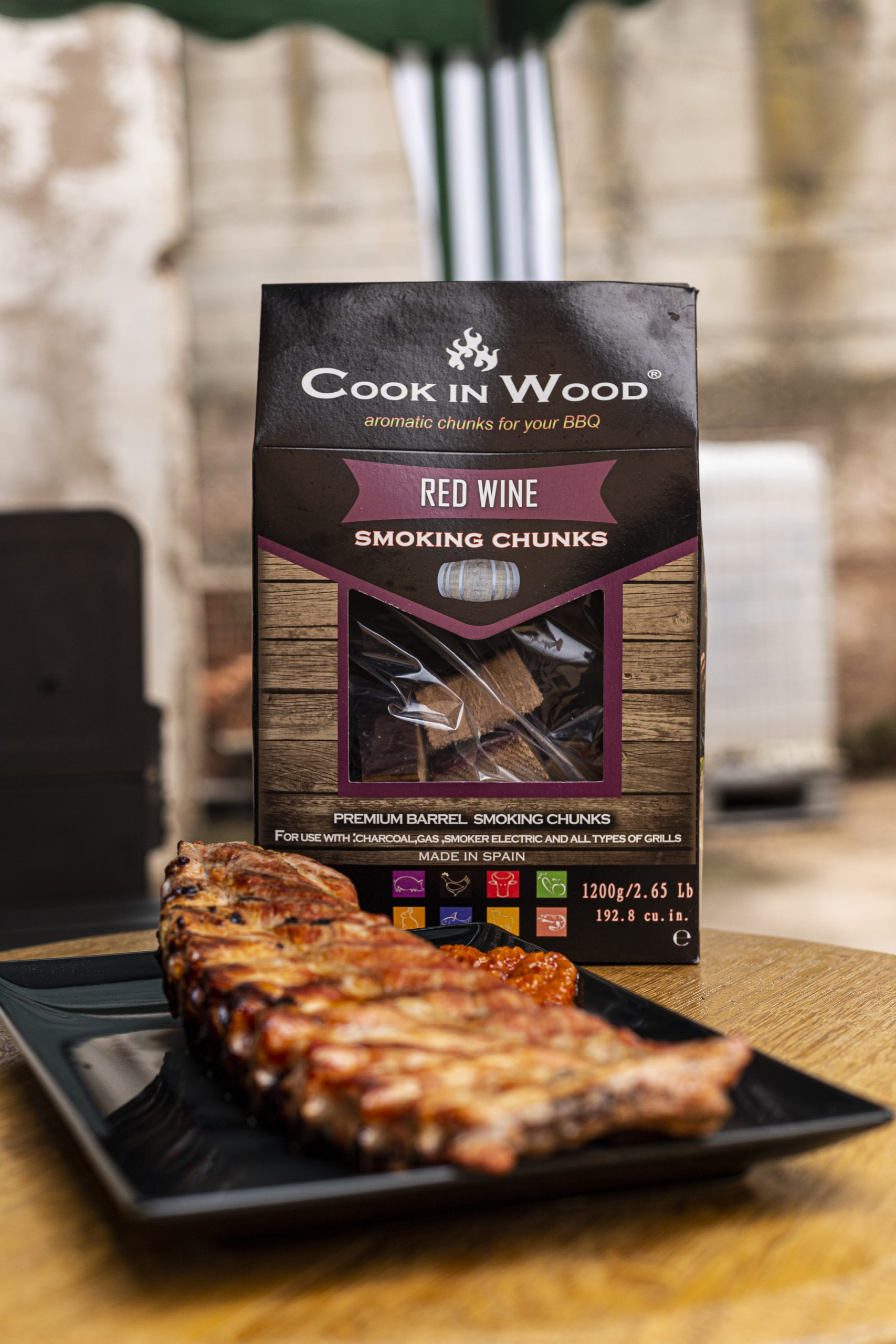 COOK IN WOOD 500GR SMOKING CHUNKS RED WINE