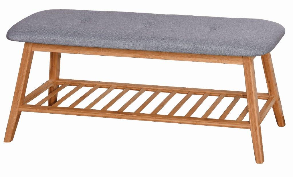 PARIS BAMBOO BENCH GRAY 100X30.5X44CM