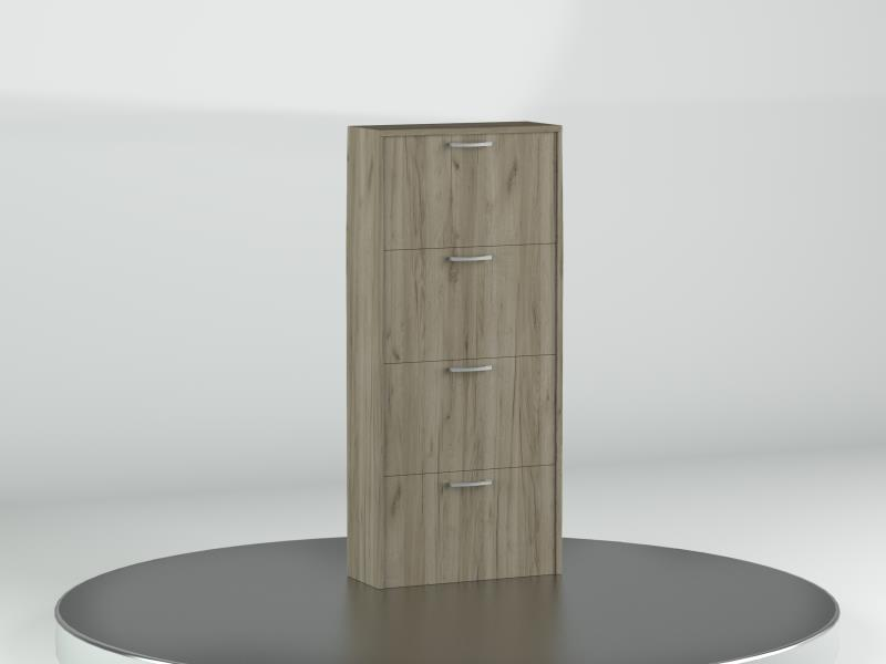 SHOE CABINET 4DOOR 60X25 GREY GRAFT