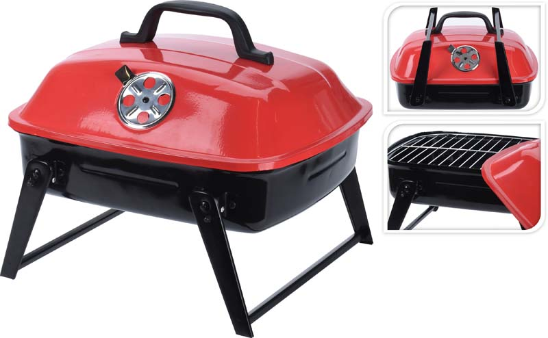 BBQ PORTABLE RED BLACK