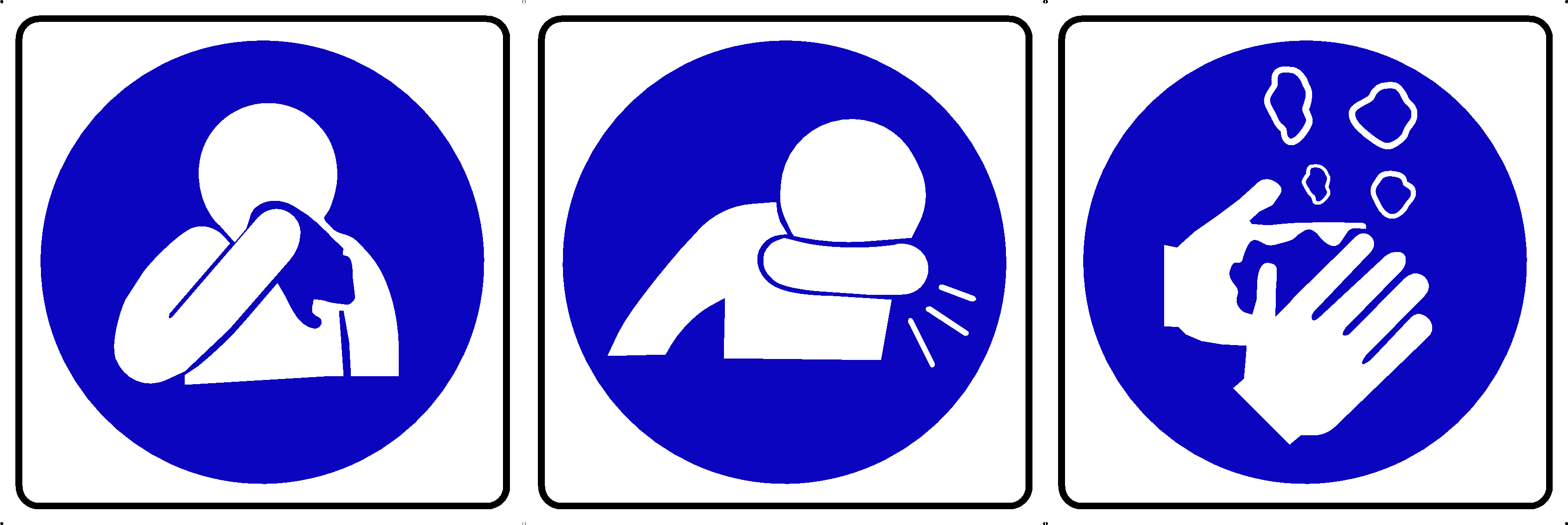 SYMBOLS NOSE-COUGH-WASH SIGN